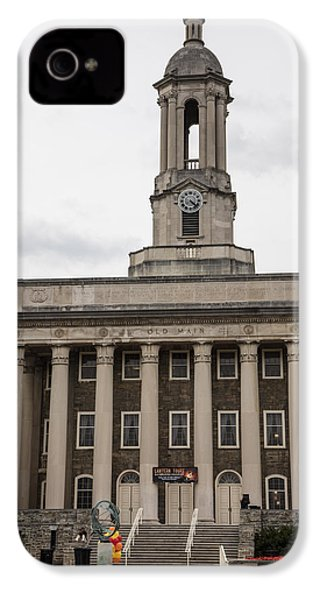 Old Main Penn State From Front  IPhone 4 / 4s Case by John McGraw