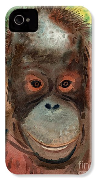 Orangutan IPhone 4 / 4s Case by Donald Maier
