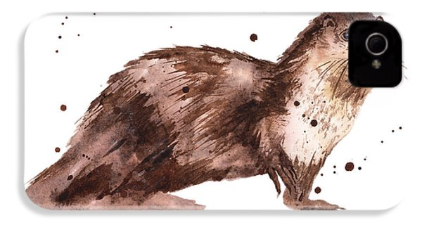 Otter Painting IPhone 4 / 4s Case by Alison Fennell
