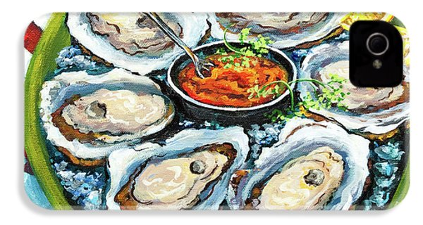 Oysters On The Half Shell IPhone 4 / 4s Case by Dianne Parks