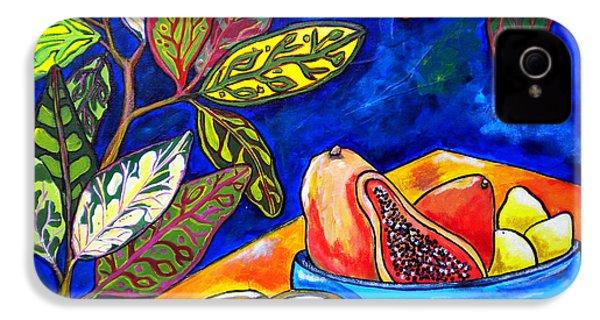 Papaya Morning IPhone 4 / 4s Case by Patti Schermerhorn