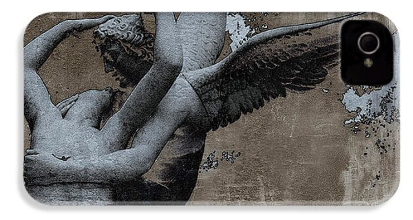 Paris Eros And Psyche - Surreal Romantic Angel Louvre   - Eros And Psyche - Cupid And Psyche IPhone 4 / 4s Case by Kathy Fornal