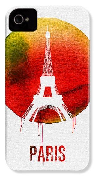 Paris Landmark Red IPhone 4 / 4s Case by Naxart Studio