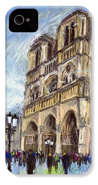 Paris Notre-dame De Paris IPhone 4 / 4s Case by Yuriy  Shevchuk