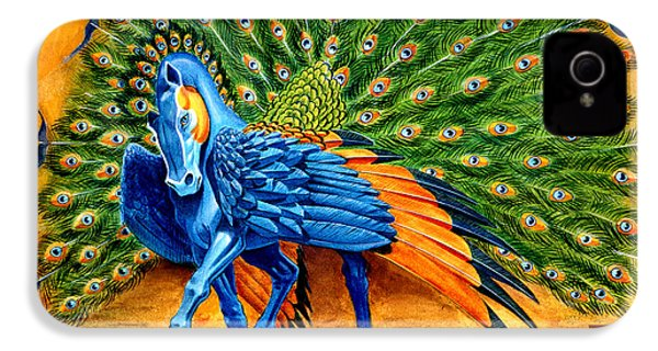 Peacock Pegasus IPhone 4 / 4s Case by Melissa A Benson