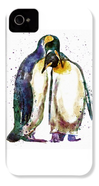Penguin Couple IPhone 4 / 4s Case by Marian Voicu