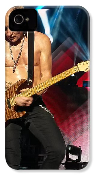 Phil Collen Of Def Leppard 2 IPhone 4 / 4s Case by David Patterson