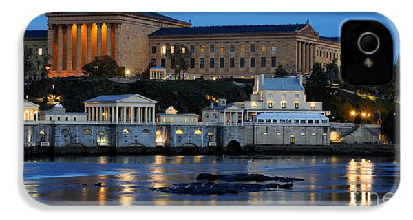 Philadelphia Art Museum And Fairmount Water Works IPhone 4 / 4s Case by Gary Whitton