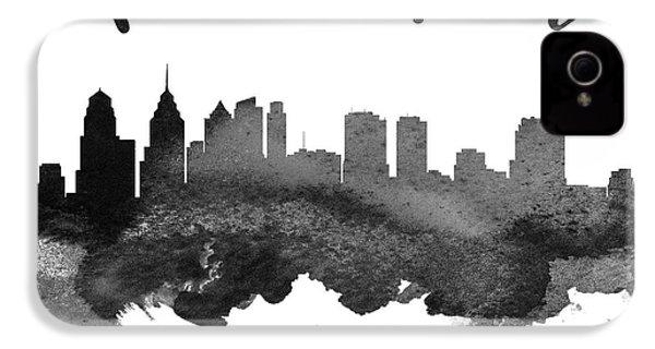 Philadelphia Pennsylvania Skyline 18 IPhone 4 / 4s Case by Aged Pixel