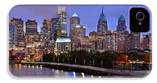 Philadelphia Philly Skyline At Dusk From Near South Color Panorama IPhone 4 / 4s Case by Jon Holiday