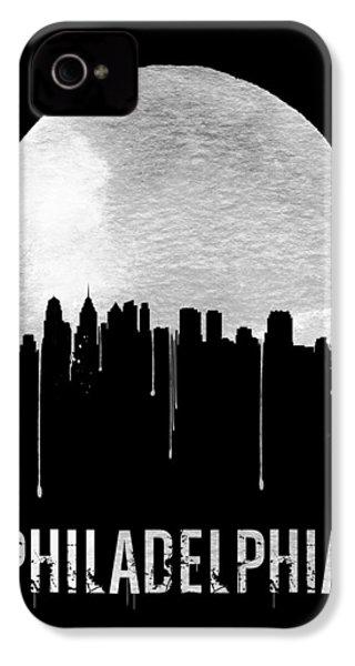 Philadelphia Skyline Black IPhone 4 / 4s Case by Naxart Studio