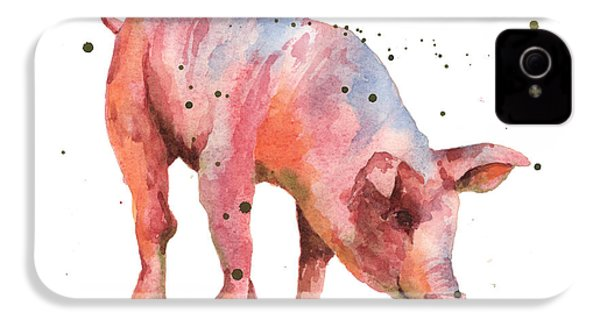 Pig Painting IPhone 4 / 4s Case by Alison Fennell