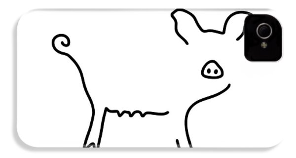 Pig Piglet Make A Mess IPhone 4 / 4s Case by Lineamentum