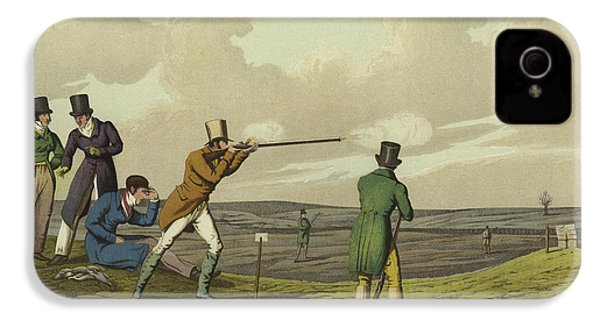 Pigeon Shooting IPhone 4 / 4s Case by Henry Thomas Alken