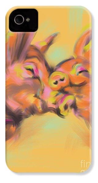 Piggy Love IPhone 4 / 4s Case by Go Van Kampen