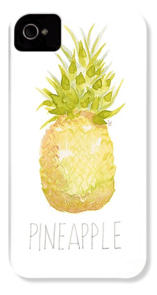 Pineapple IPhone 4 / 4s Case by Cindy Garber Iverson