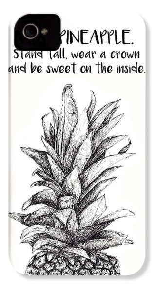 Pineapple IPhone 4 / 4s Case by Nancy Ingersoll