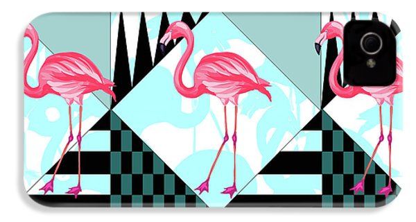 Ping Flamingo IPhone 4 / 4s Case by Mark Ashkenazi