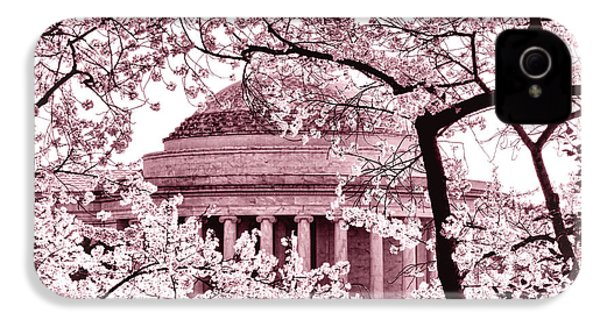 Pink Cherry Trees At The Jefferson Memorial IPhone 4 / 4s Case by Olivier Le Queinec