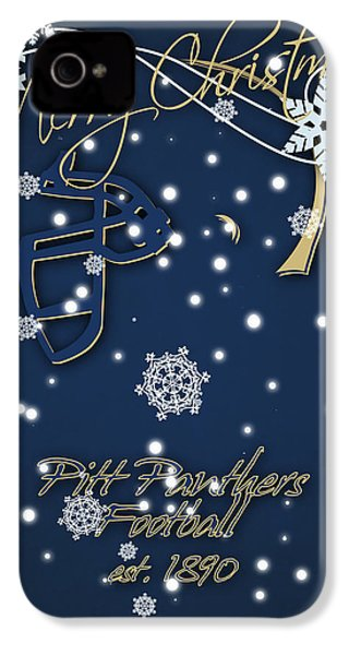 Pitt Panthers Christmas Cards IPhone 4 / 4s Case by Joe Hamilton