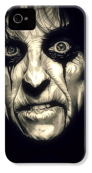 Poison Alice Cooper IPhone 4 / 4s Case by Fred Larucci