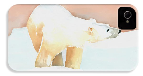 Polar Bear IPhone 4 / 4s Case by Arline Wagner