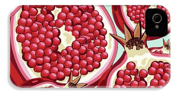 Pomegranate   IPhone 4 / 4s Case by Mark Ashkenazi