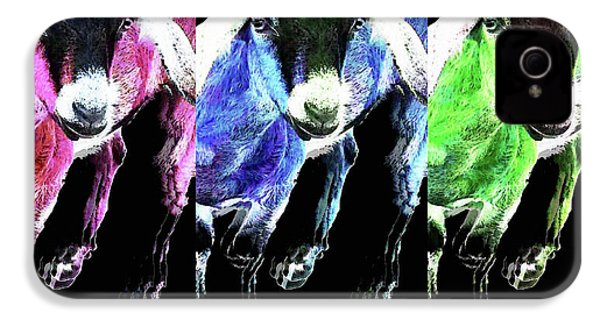 Pop Art Goats Trio - Sharon Cummings IPhone 4 / 4s Case by Sharon Cummings