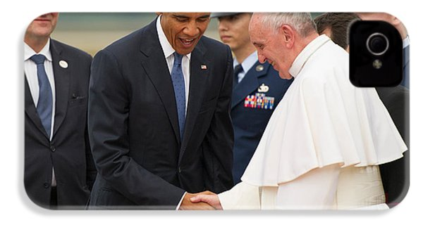 Pope Francis And President Obama IPhone 4 / 4s Case by Mountain Dreams
