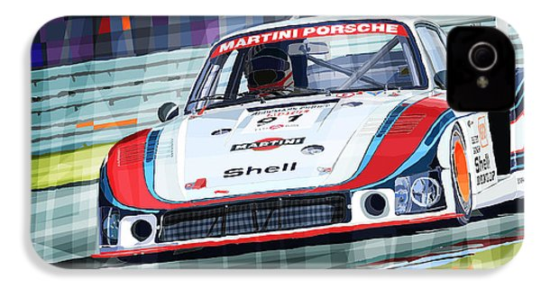 Porsche 935 Coupe Moby Dick Martini Racing Team IPhone 4 / 4s Case by Yuriy  Shevchuk