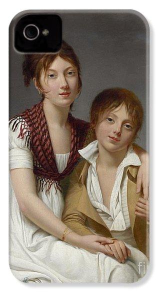 Portrait D'amelie-justine Et De Charles-edouard Pontois IPhone 4 / 4s Case by Celestial Images