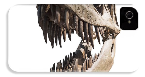 Portrait Of A Dinosaur Skeleton, Isolated On Pure White. IPhone 4 / 4s Case by Caio Caldas