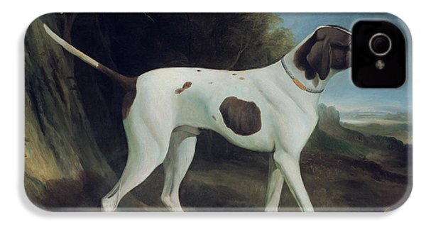 Portrait Of A Liver And White Pointer IPhone 4 / 4s Case by George Garrard