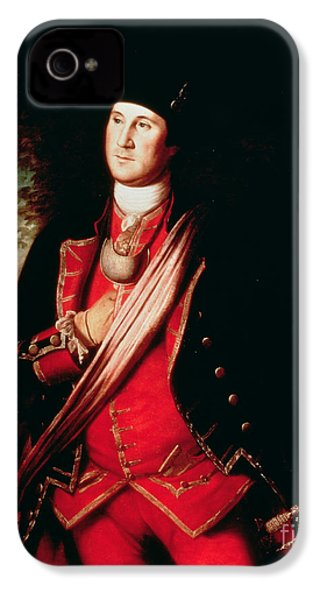 Portrait Of George Washington IPhone 4 / 4s Case by Charles Willson Peale