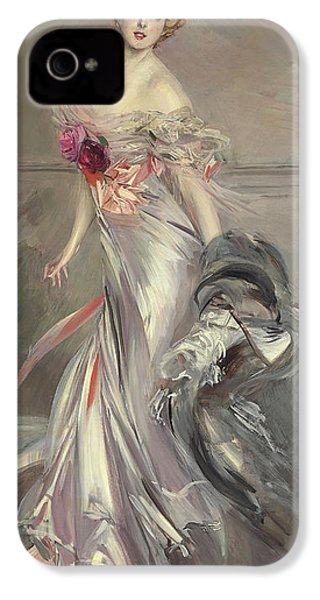 Portrait Of Marthe Regnier IPhone 4 / 4s Case by Giovanni Boldini