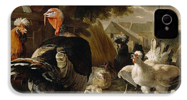 Poultry Yard IPhone 4 / 4s Case by Melchior de Hondecoeter