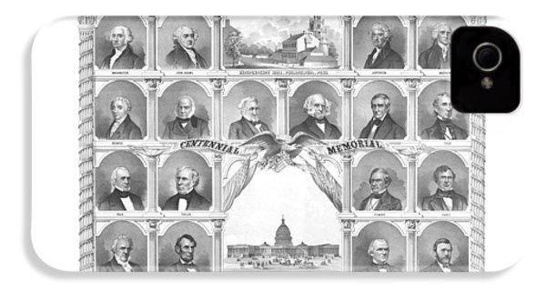 Presidents Of The United States 1776-1876 IPhone 4 / 4s Case by War Is Hell Store