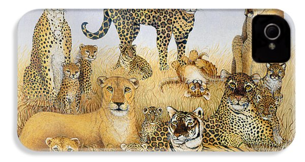 The Big Cats IPhone 4 / 4s Case by Pat Scott