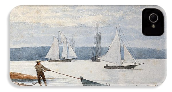 Pulling The Dory IPhone 4 / 4s Case by Winslow Homer