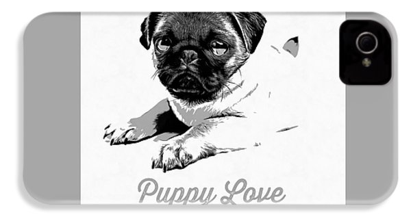Puppy Love IPhone 4 / 4s Case by Edward Fielding