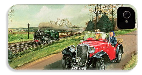 Racing The Train IPhone 4 / 4s Case by Richard Wheatland