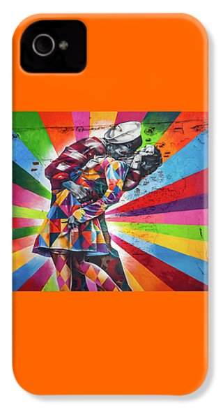 Rainbow Kiss IPhone 4 / 4s Case by Az Jackson