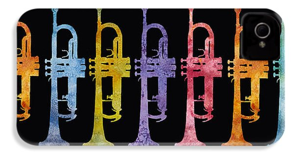 Rainbow Of Trumpets IPhone 4 / 4s Case by Jenny Armitage