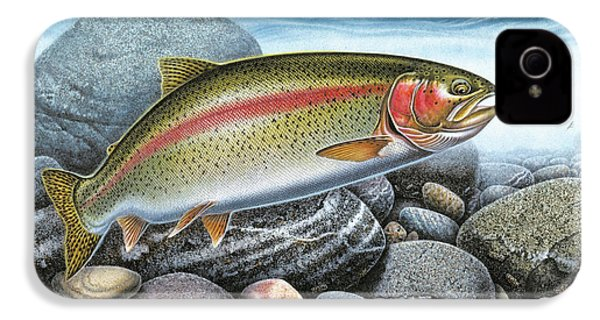 Rainbow Trout Stream IPhone 4 / 4s Case by JQ Licensing