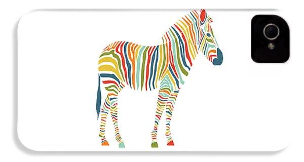 Rainbow Zebra IPhone 4 / 4s Case by Nicole Wilson