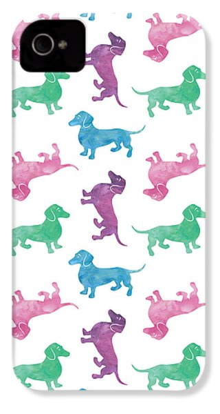 Raining Dachshunds IPhone 4 / 4s Case by Antique Images