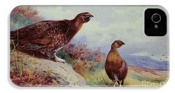 Red Grouse On The Moor, 1917 IPhone 4 / 4s Case by Archibald Thorburn