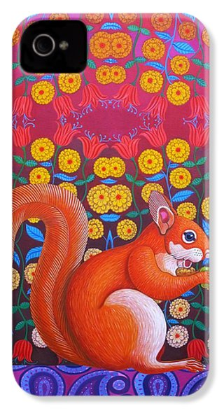 Red Squirrel IPhone 4 / 4s Case by Jane Tattersfield