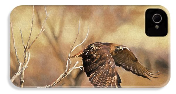 Redtail On The Move IPhone 4 / 4s Case by Donna Kennedy