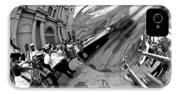 Reflections In A Trombone IPhone 4 / 4s Case by Todd Fox